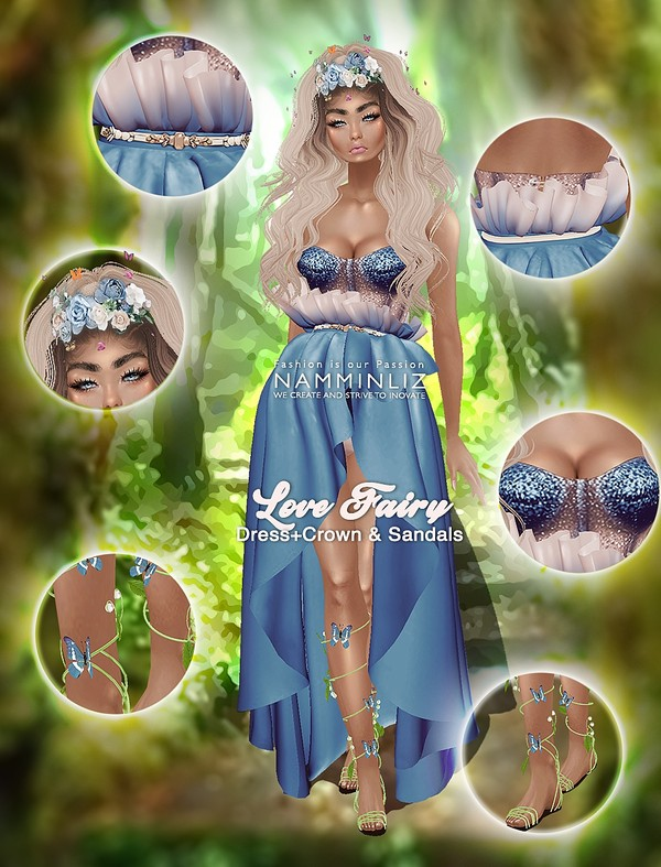 Love Fairy Bundle Dress, Crown & SandalsTextures PNG 3 CHKN