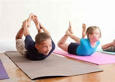 KIDS YOGA; backhanding with Scout