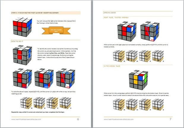 How to solve a Rubik's Cube - printable booklet