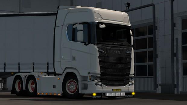 Custom bottomgrill for SCS Scania Nextgen(Euro truck simulator)