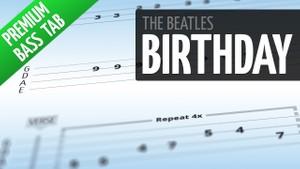 Birthday (Premium Bass Tab)
