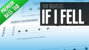 If I Fell (Premium Bass Tab)