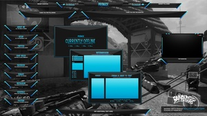 Modern Black & Blue glossy twitch package