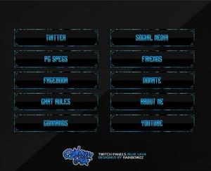 Twitch Panels Blue Lava
