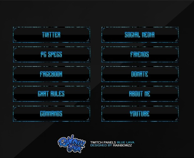 Twitch Panels Blue Lava
