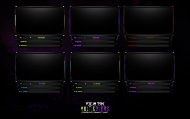 Webcam Frame Multicolors