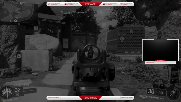 Twitch Overlay White Red