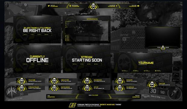COD Infinite Warfare Twitch Package