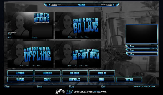 Sexy Blue Twitch package