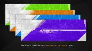 Multicolor 2D Twitter Banner - The Division Theme