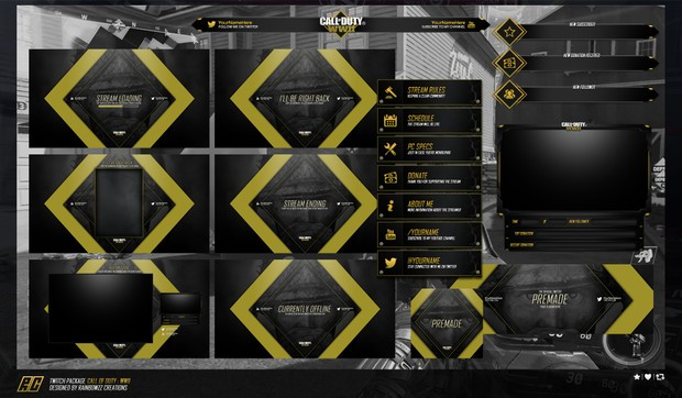 Call of Duty : WWII ULTIMATE Twitch Package