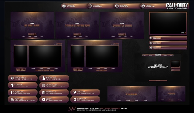 Call Of Duty - Infinite Warfare Themed Twitch Package