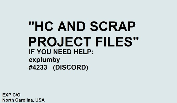 HC and SCRAPS Project Files! (5 .Vegs)