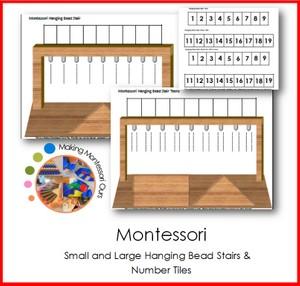 Montessori Hanging Bead Stair Frames Printable