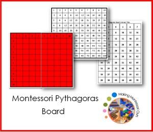 Montessori Pythagoras Multiplication Board
