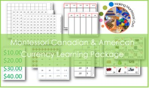Montessori Currency Learning Printable Package