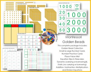 Montessori Golden Beads and Materials Printable