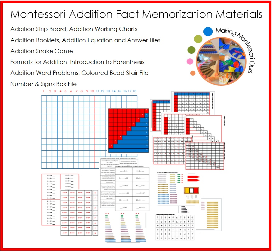 montessori facts In the montessori classroom, five families with math are presented to the child: arithmetic, geometry, statistics and calculus mathematics, like language.
