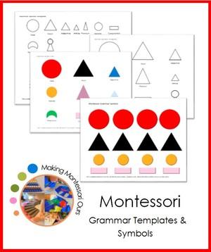 Montessori Grammar Symbols & Templates
