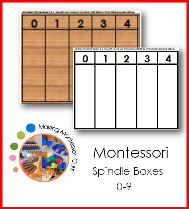 Montessori Spindle Boxes