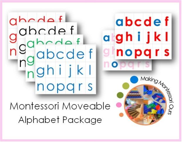 Montessori Moveable Alphabet Collection