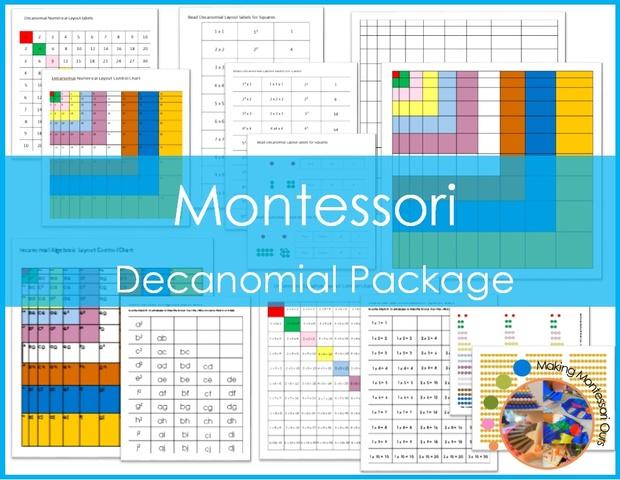 Montessori Decanomial Layout