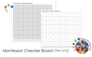 Montessori Checker Board Tiles