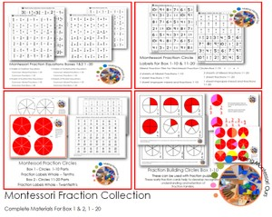 Montessori Complete Fractions Package