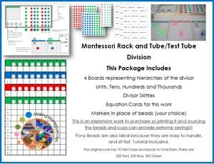 Montessori Test Tube Division