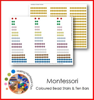 Montessori Bead Stairs and Golden Ten Bars