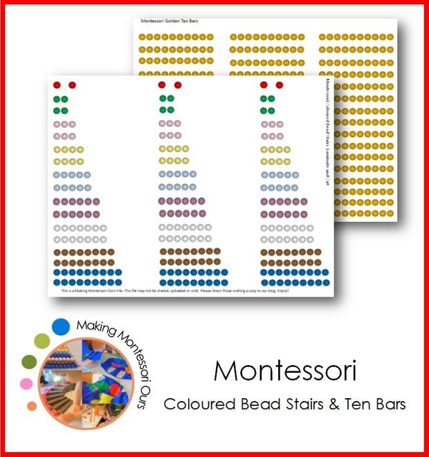 Montessori Bead Stairs and Golden Ten Bars