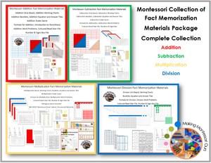 Montessori Fact Memorization Materials Collection