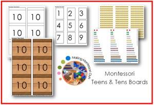Montessori Teens & Tens Boards Printable Package