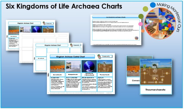 Six Kingdoms Archaea Charts & Labels Package Printable File