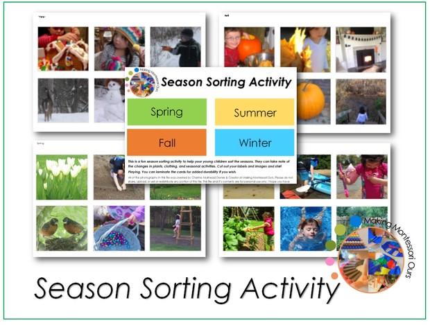 Season Sorting Activity