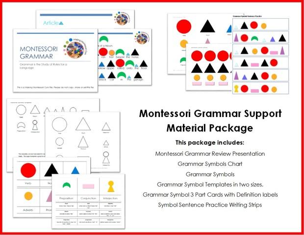 Montessori Grammar Support Materials Package
