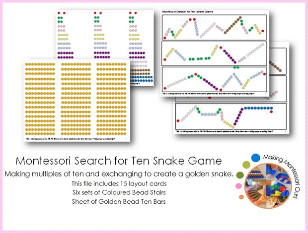 Montessori Search for Ten Snake Game