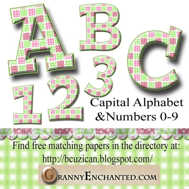 Granny Enchanted Lime Quilt Alphabet & Numbers