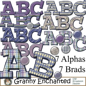Moonlight Digital Scrapbook Alphabets
