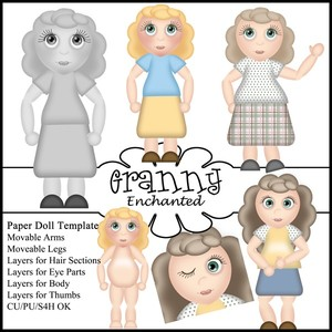 Girl Paper Doll Template (PSD file and png layer files)