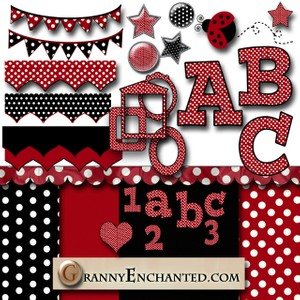 Granny Enchanted's Red Polka Dot Kit