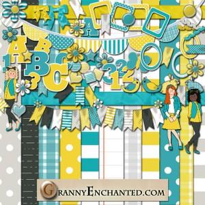 Sunny Digital Scrapbook Kit 50 From GrannyEnchanted.Com