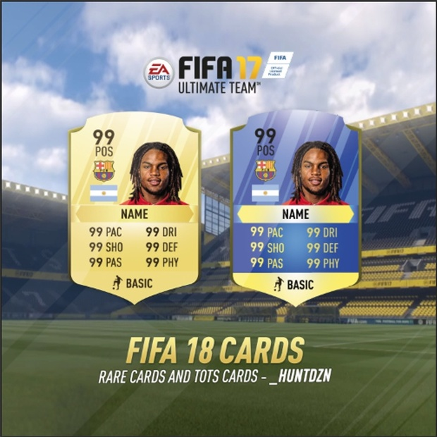 FIFA 18 TOTS AND RARE CARDS TEMPLATE (HD)