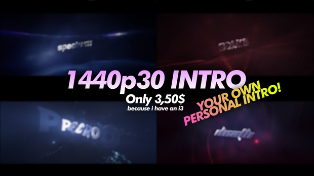 1440p30 3D Personal Intro (Chill)