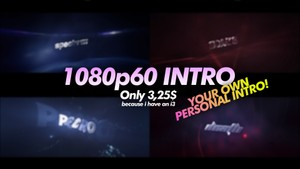 1080p60 3D Personal intro