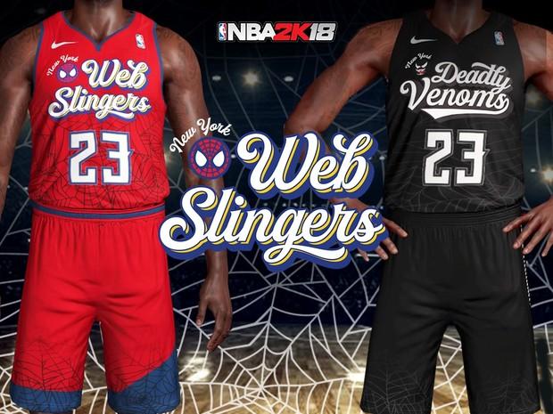9aae64c00b13 Marvel Spider-Man   Venom NBA Jersey + Arenas - clarkestarks