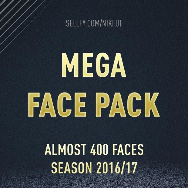 MEGA FACE PACK (FOR FIFA 17)