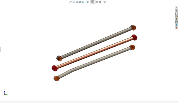 2020 Can Am X3 72 in  Radius Rod Set