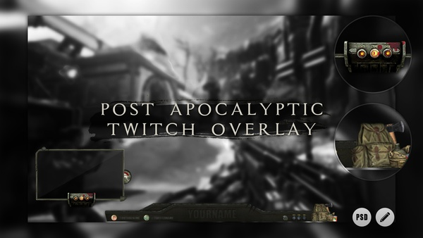 Post Apocalyptic | Livestream Facecam Template