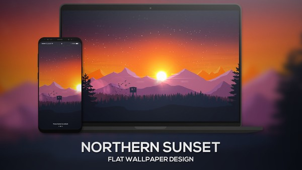 """Northern Sunset"" 